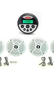 waterdichte marifoon stereo atv utv audio-ontvanger + 2 paar 6.5 inch waterdichte luidsprekers