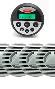 waterdichte marifoon stereo atv utv audio-ontvanger + 2 paar 6.5 inch waterdichte outdoor speakers