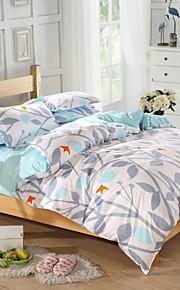 mingjie® 실루엣 남자와 여자 침대 시트 중국 침구 세트 4 개를 샌딩 여왕과 트윈 사이즈 잎
