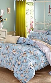 sininen kukka puuvilla vuodevaatteet sarja 4kpl neljä vuodenaikaa käyttö