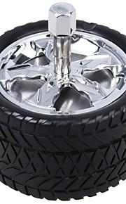 cenicero estilo de la rueda portátil universal para el uso del coche