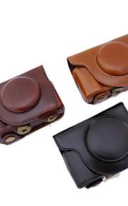 dengpin pu læder kamerataske taske cover med skulderrem til Olympus sh-2 sh-1 (assorterede farver)