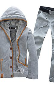 Masculino Sets activewear Casual Cor Solida Algodão Manga Comprida Masculino