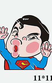 grappig superman auto sticker autoraam muurstickers auto styling