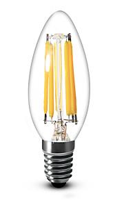Ampoules Bougie Gradable Blanc Chaud / Blanc Froid SML 1 pièce C35 E14 / E12 6 W 6 COB 600 LM AC 100-240 / AC 110-130 V