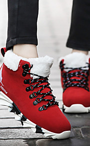Women's Shoes Leatherette Flat Heel Comfort / Novelty / Round Toe Boots Outdoor / Athletic / Casual Black / Blue / Red