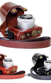 dengpin pu læder kamerataske taske dække med skulderrem til Panasonic GM5 gm2 Lumix gm1s (assorterede farver)