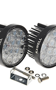 KAWELL® 2 Pack 42W Round Off Road Waterproof Led Flood