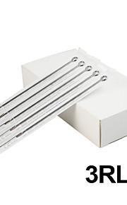 ITATOO® 50pcs Platinum 1203RL Stainless Steel Tattoo Needles Used for Liner Tattoo Machines