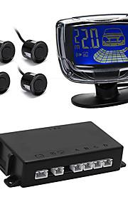автомобиль ЖК-дисплей обратного резервного копирования радар заднего систему 4 парковочные датчики черный