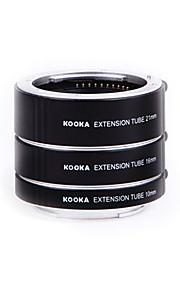 Kooka kk-SE47 AF messing makro forlængerrør til SONY e-mount (10mm 16mm 21mm) kameraer