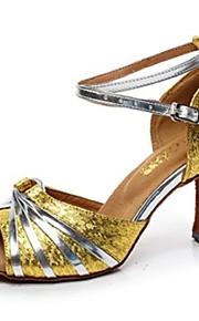 Zapatos de baile ( Negro / Oro ) - Danza latina - No Personalizable - Tacón Luis XV