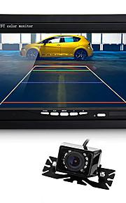 """7 """"TFT LCD-monitor auto ir achteruitkijkspiegel omgekeerde back-up 9 geleid night vision camera"""