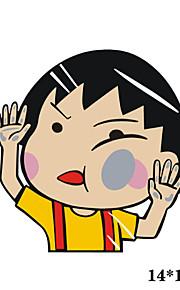 funny chi-bi Maruko bil mærkat bilrude Vægoverføringsbillede bil styling