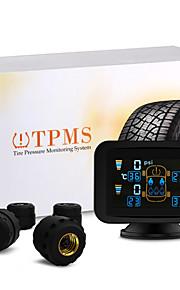 bil auto TPMS dæktryk trådløs 4 sensorer LCD display overvågning