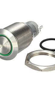 10stk bil 19 mm bringer varmt metal trykknap switch lås rød, grøn og blå 12V LED lampe afbryder med lås