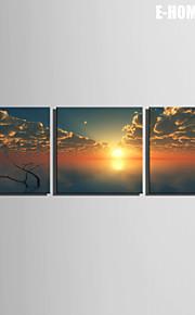 Landschaft Leinwand drucken Drei Paneele Fertig zum Aufhängen , Quadratisch