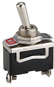 5pcs 12v tunge toggle svirp tænd / sluk bil Dash letmetal SPST 12 volt