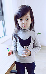 Girl's The Small Fox Thickened Bottoming Tee , Cartoon Others Winter / Fall