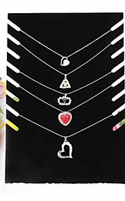 velours noir collier chevalet bijoux affiche 19 * 7 * 28cm