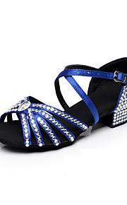 Zapatos de baile ( Negro / Azul / Marrón ) - Danza latina / Dance Sneakers / Moderno / Salsa / Flamenco / Samba - Personalizados -Tacón
