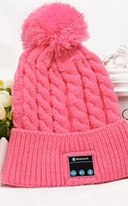 filles hiver au chaud Bonnet bluetooth headset bouchon intelligent haut-parleur de la musique micro