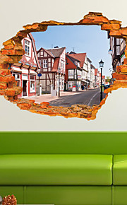 Arkitektur / Mote / fantasi / 3D Wall Stickers 3D mur klistermærker , Vinyl stickers 90*60cm