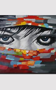 手描きの 抽象的な肖像画Modern 1枚 キャンバス ハング塗装油絵 For ホームデコレーション