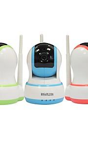 hosafe 1mw20 CMOS 1.0mp hjem sikkerhed alarm Trådløst IP kamera m / 10-IR-ledede / TF kort / gratis dørkontakt
