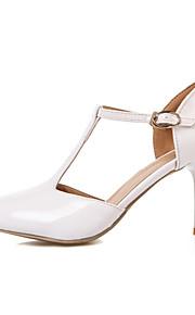 Women's Shoes Leatherette Stiletto Heel Heels / T-Strap / Square Toe Heels Office & Career / Dress / CasualBlack / Pink