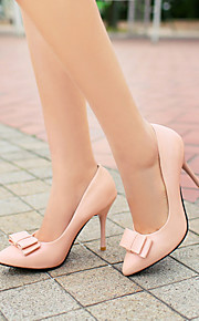 Women's Shoes Leatherette Stiletto Heel Heels / Pointed Toe Heels Office & Career / Dress / Casual Black / Pink / Gray