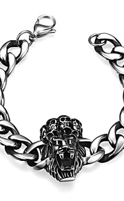 Lion Personality Retro Men's Stainless Steel Bracelet