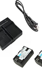 ismartdigi lpe6 digitalt kamera batteri x2 + dobbelt oplader til canon 5d2 5d3 6d 7d 7d2 60D 70d