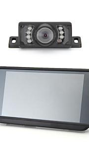 """7 """"TFT LCD breedbeeld auto achteraanzicht achteruit-monitor + zender + 7 geleid camera"""