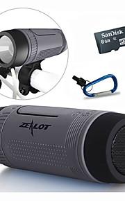 bluetooth speaker / draagbare stroom bank / led / bellen beantwoorden / TF stereo 5 in 1 + houder + sport haak + 8gb TF-kaart