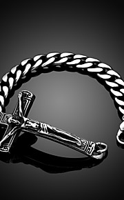 Jesus Cross Personality Retro Men's Stainless Steel Bracelet