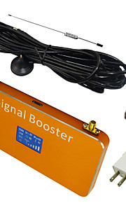 New LCD Display GSM 900MHz Mobile Signal Booster Amplifier with Whip and Sucker Antennas Coverage 1000m² Gold