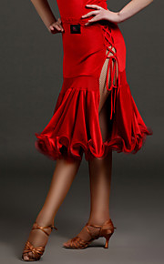 High-quality Velvet with Ruffles Latin Dance Skirts for Women's Performance(More Colors)
