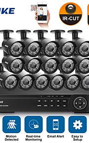 annke® 16ch 1080p hd indendørs udendørs ir hjem CCTV sikkerhed kamera system dvr hdmi