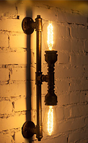 Wroguht Iron Water Pipe Wall Lamp Vintage Aisle Lights Loft Iron Wall Lamp Edison Incandescent Light Bulb-FJ-DB2-046A0