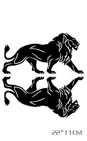 grappige de leeuw cartoon auto sticker autoraam muurstickers auto styling (2 stuks)
