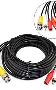 45m CCTV sikkerhed overvågning kamera video og audio powe forlængerledning pre-made alt-i-én BNC RCA-kabel