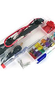 12v auto add-a-circuit blade zekering Kraanadapter pinautomaat aps att blade zekeringhouder, 30pcs zekering, zekering trekker, draad klem,