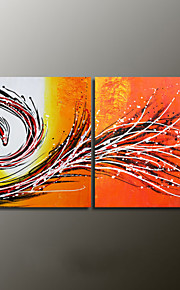 Hand-Painted Abstract Modern Oil Painting,Canvas Two Panels