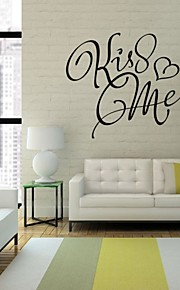 English Kiss Me Wall Sticker Quotes Bedroom Living Room Vinilos Adhesivos Decorativos Pared Stickers On The Wall