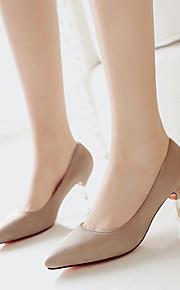 Черный / Розовый / Серый / Миндальный / Бордовый-Женская обувь-Для праздника-Замша-На каблуке-рюмочке-На каблуках / С острым носком / С