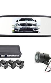 4 Sonda auto videocamera schermo sensori di parcheggio dell'affissione a cristalli liquidi da 4,3 pollici renepai® invertire radar backup
