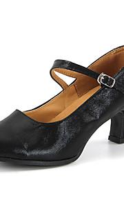 Sapatos de Dança(Preto / Vermelho / Prateado / Dourado) -Feminino-Personalizável-Moderna