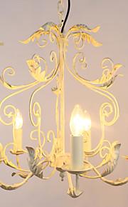 40W Traditionnel/Classique Style mini / Designers / Candle style Peintures Métal LustreSalle de séjour / Chambre à coucher / Salle à