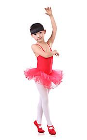 Ballet Children's Training Spandex / Tulle Pleated Strap Dresses Dance Costumes